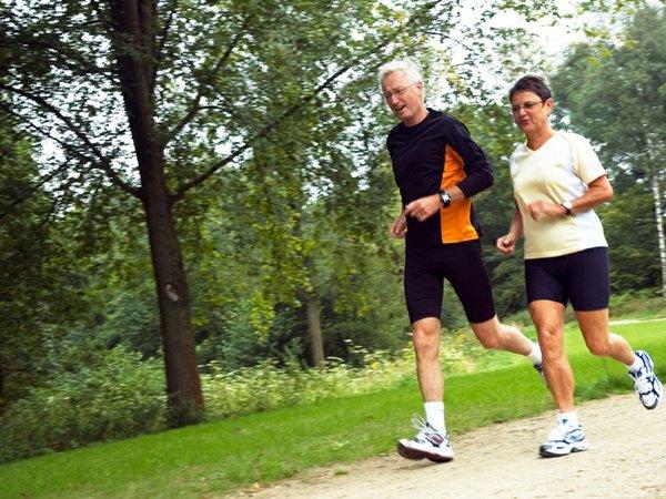 Older Couple Running