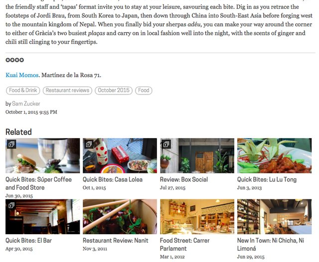 Related Links Thumbnail View
