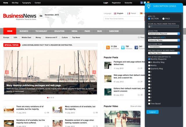 Subscription Genius Overlay Screenshot