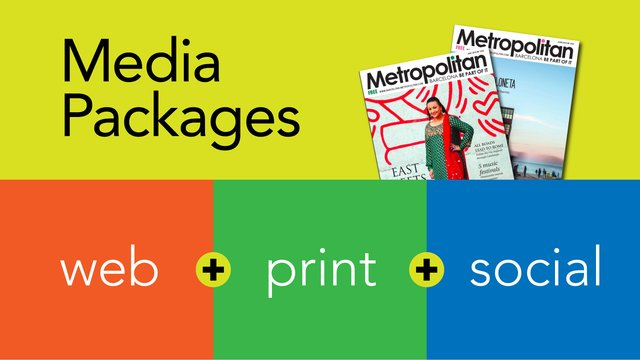 Barcelona Metropolitan Media Packages